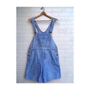Vintage Bill Blass Light Denim Overall Shorts